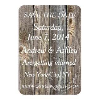 Rustic Nautical Theme/Beach Wedding save the date Card