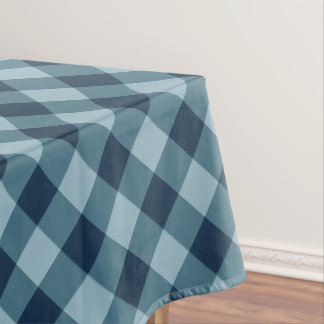 Rustic Navy and Blue Buffalo Plaid Tablecloth