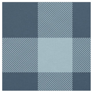 Rustic Navy and Light Blue Buffalo Plaid Fabric