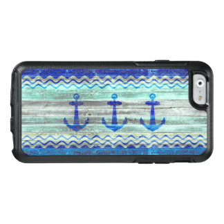 Rustic Navy Blue Anchors OtterBox iPhone 6/6s Case