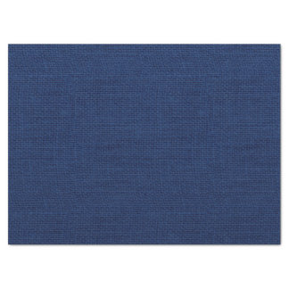Rustic Navy Blue Burlap Texture Tissue Paper