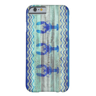 Rustic Navy Blue Coastal Lobsters Barely There iPhone 6 Case