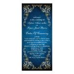 "rustic ""navy blue"" regal  wedding program rack card template"