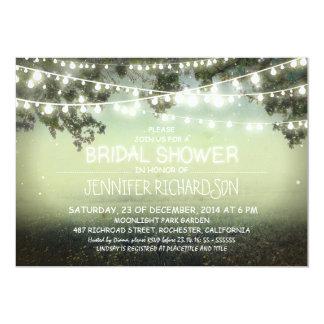 "rustic night lights bridal shower invitations 5"" x 7"" invitation card"