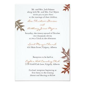 Rustic Oak Leaf Wedding Invitation