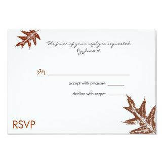 Rustic Oak Leaf Wedding RSVP Card