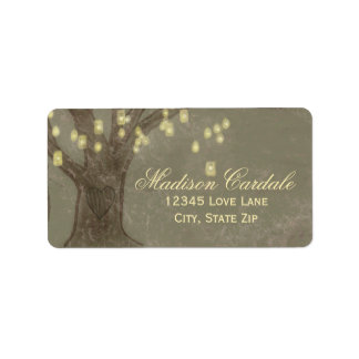 Rustic Oak Tree Mason Jars Address Labels