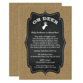 Rustic Oh Deer Buck Baby Sprinkle Card