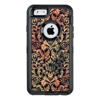 Rustic Oil Paint Damask Red Rust and Patina Green OtterBox iPhone 6/6s Case