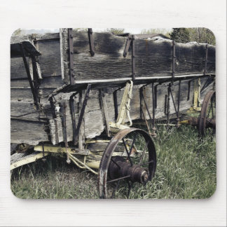 Rustic Old Antique Farm Wagon Mouse Pad