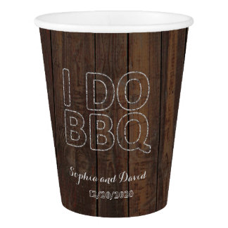 Rustic Old Barn String Lights I DO BBQ Paper Cup