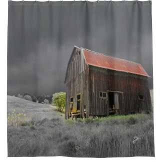 Rustic Old Barn Vintage Farmhouse Trendy Shower Curtain
