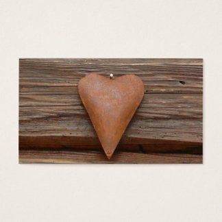 Rustic Old Heart on Log Cabin Wood