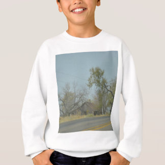 rustic old house sweatshirt