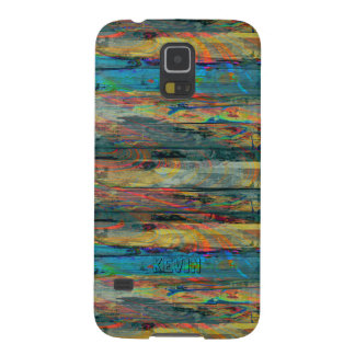 Rustic Old Painted Wood Boards Cases For Galaxy S5