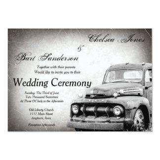 Rustic Old Truck Wedding Invitations