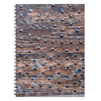 Rustic Old Weathered Wood with Nails Notebook
