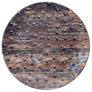 Rustic Old Weathered Wood with Nails Plate