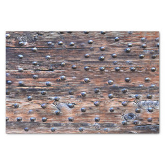 Rustic Old Weathered Wood with Nails Tissue Paper