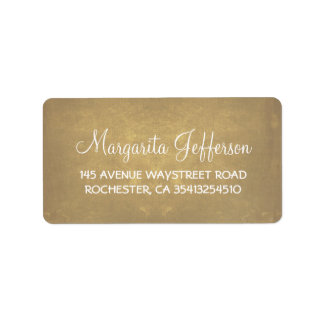 Rustic Old Wedding Address Label