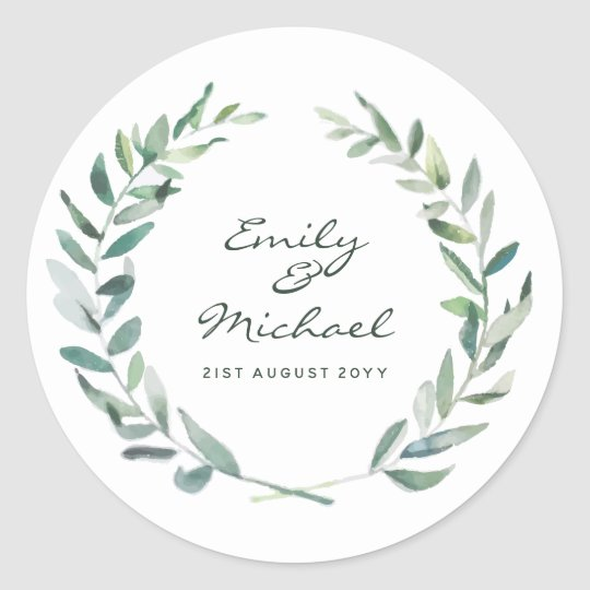 Rustic Olive Leaves Stickers Personalised