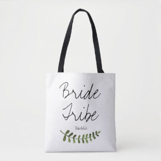Rustic Ombre Watercolor Forest Bride Tribe Tote Bag