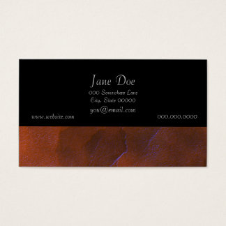 Rustic Orange Brown Blue Hightlights Abstract Art Business Card