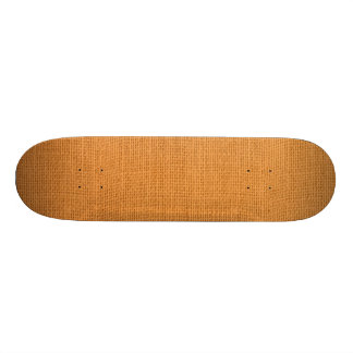 Rustic Orange Burlap Texture Skateboard Deck