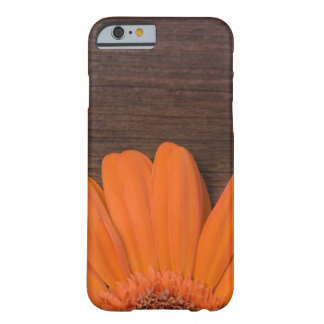 Rustic Orange Daisy and Barn Wood Barely There iPhone 6 Case