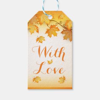 Rustic Orange Love Autumn Leaves Wedding