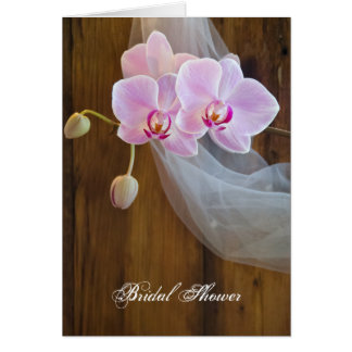 Rustic Orchid Elegance Bridal Shower Invitation
