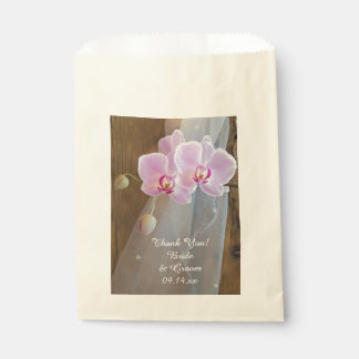 Rustic Orchid Elegance Country Wedding Thank You Favour Bag