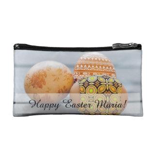 Rustic Painted Easter eggs Cosmetic Bag