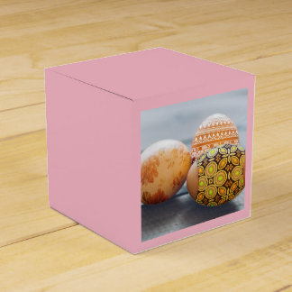 Rustic Painted Easter eggs Party Favour Boxes