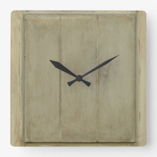 Rustic Painted Wood Wallclock