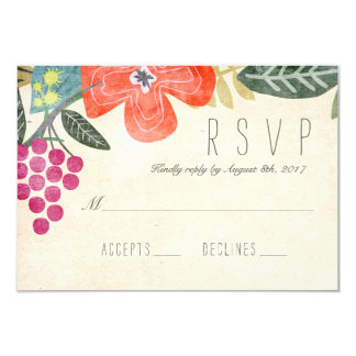 Rustic Paradise RSVP Response Card