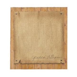 Rustic Parchment Notepad