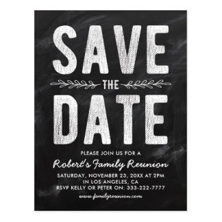 Rustic Party, Reunion or Wedding Save the Date Postcard