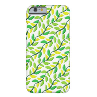 Rustic Pastel Leaves Pattern Barely There iPhone 6 Case