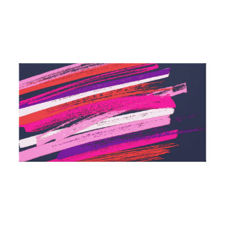 Rustic Pastel Strokes Wrap Canvas Print