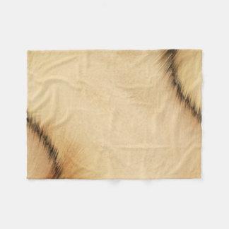 Rustic Patch Fleece Blanket