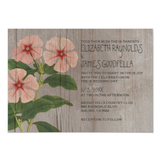 Rustic Periwinkle Wedding Invitations