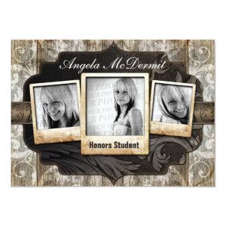 Rustic Photo Graduation Announcement Invite 11 Cm X 16 Cm Invitation Card