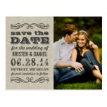 Rustic Photo Save the Dates | Vintage Poster Style