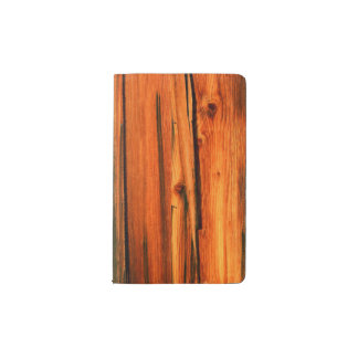 rustic pine boards pocket moleskine notebook