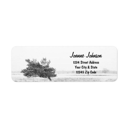 Rustic Pine tree country wedding Return Address Label