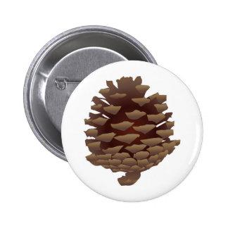 Rustic Pinecone 6 Cm Round Badge