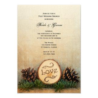 Rustic Pines Woodland Post Wedding Brunch Invite