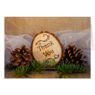 Rustic Pines Woodland Wedding Thank You Card
