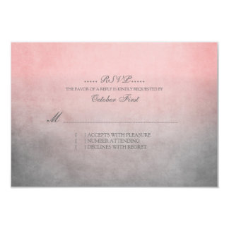 Rustic Pink and Grey Bohemian Wedding RSVP 9 Cm X 13 Cm Invitation Card
